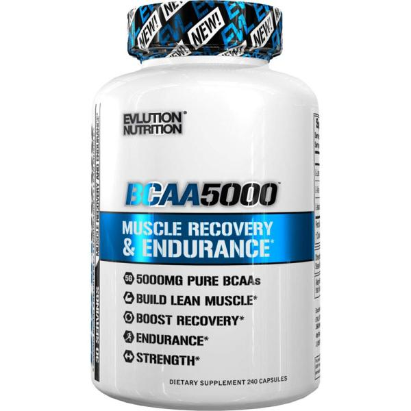 Buy EVLution BCAA 5000 240 Capsules Build and Repair Muscle Boost Recovery Increase Strength and Endurance of BCAAs FREE Shipping 2-3 Days by Racepack Singapore