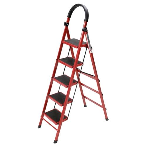 JIJI 5 Step Foldable Ladder【 Compact and Light Ladder 】 Foldable Large Board Ladder 3/4/5 Step Ladder Step Model 1: Ladder Steps