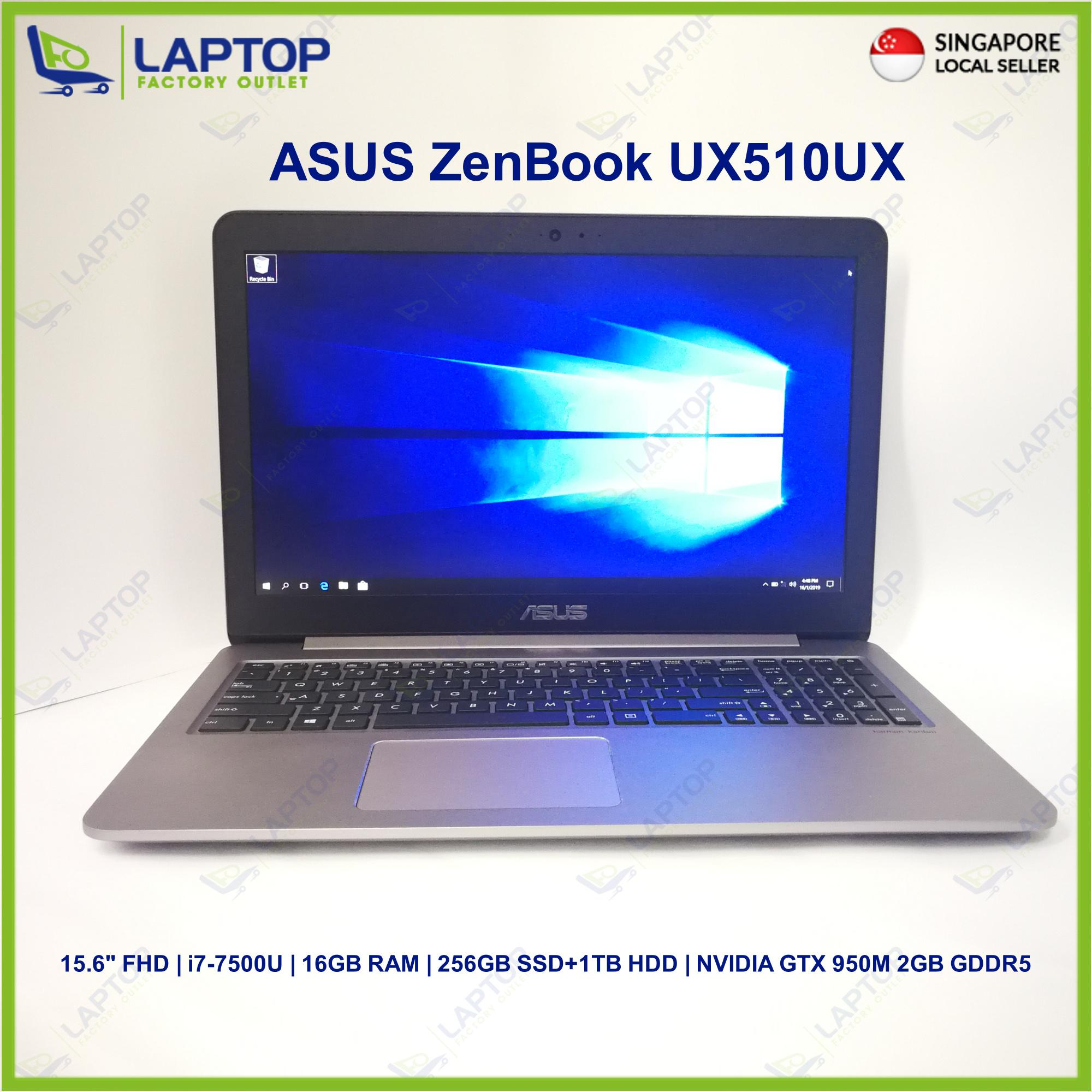 ASUS ZenBook UX510UX (I7-7/16GB/1TB+256GB) Premium Preowned [Refurbished]