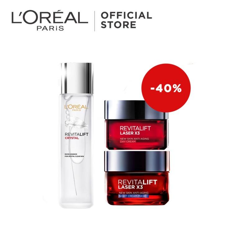 Buy Revitalift Crystal Essence + Revitalift LASER X3 Day + Night Cream by LOreal Paris Singapore