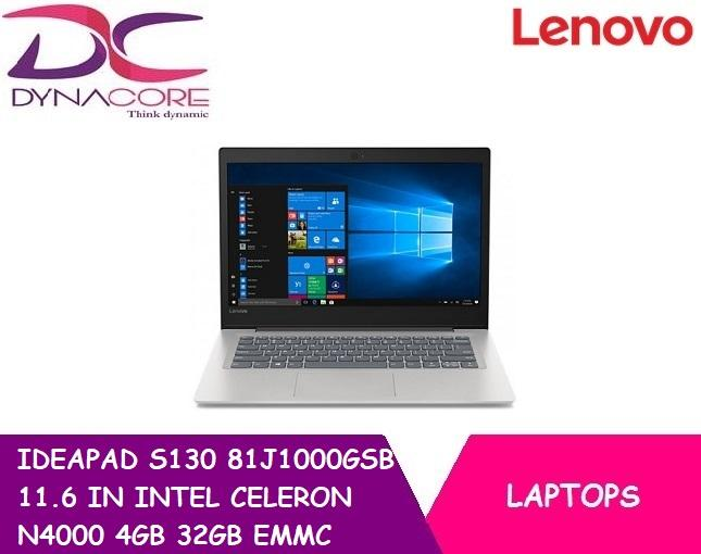 LENOVO IDEAPAD S130 81J1000GSB (GREY) 11.6 IN INTEL CELERON N4000 4GB 32GB EMMC WIN 10S