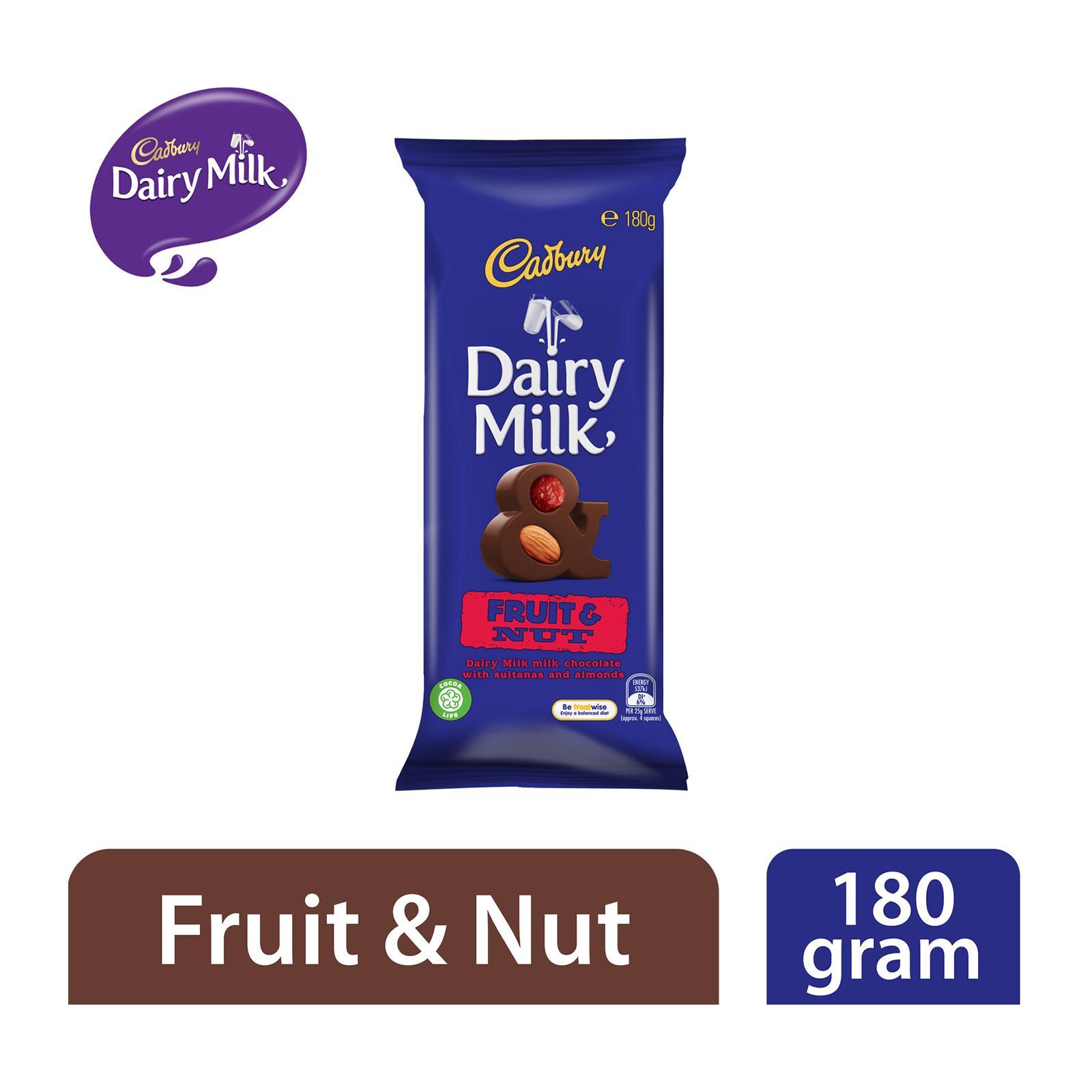Cadbury Dairy Milk Fruit and Nut Milk Chocolate Block