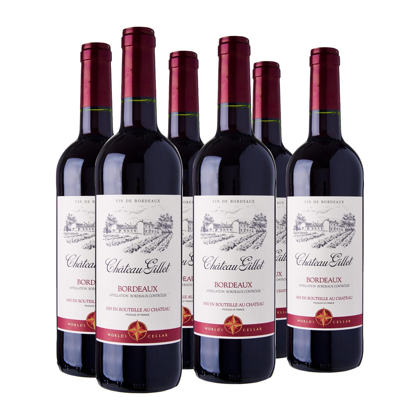 World's Cellar Chateau Gillet Bordeaux Red Wine - Case