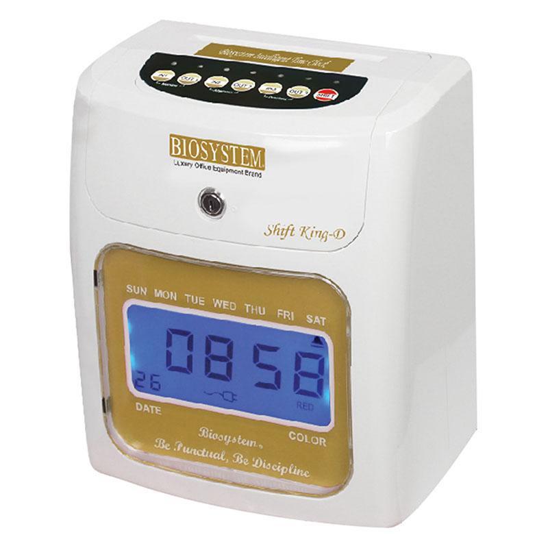 BIOSYSTEM TIME CLOCK/RECORDER SHIFT KING-D
