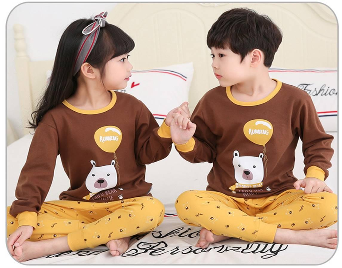 Big Kids Pyjamas /children Family Couple Pyjamas Set Up To Size 180cm Boys [pjn01] By Jolly Sg.
