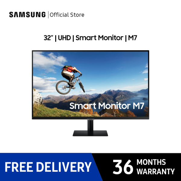 [Bulky] Samsung 32 Smart Monitor With Mobile Connectivity and UHD resolution / 36 Months Warranty / LS32AM700UEXX