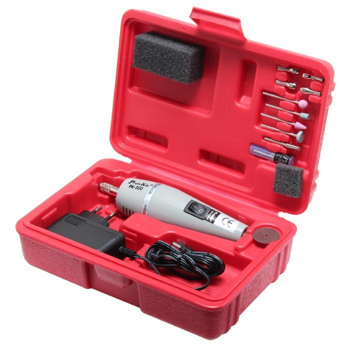 Part No. Proskit 1PK-500B-2 - Super Drill Set W/Adaptor230V AC 50Hz