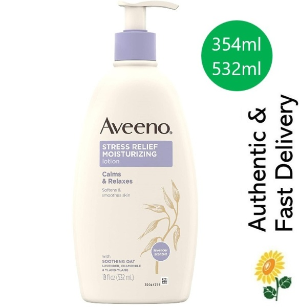 Buy [SG] Aveeno Stress Relief Moisturizing Body Lotion with Lavender and Chamomile & Ylang-Ylang Essential Oils Singapore