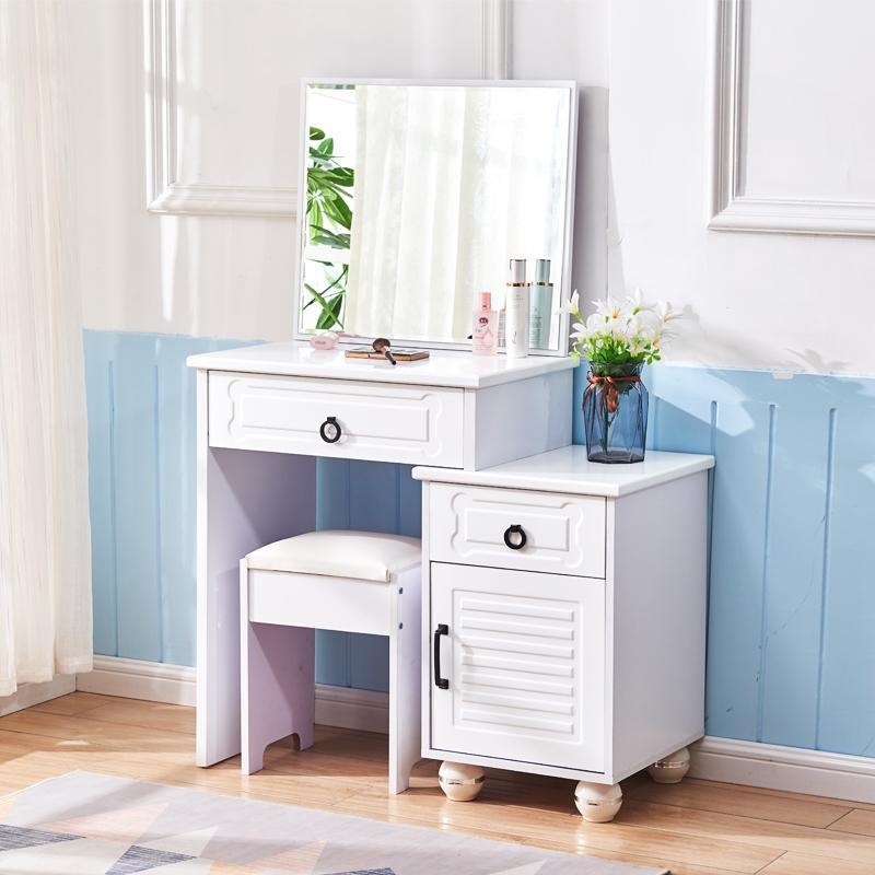 LYH Dressing Table With Large Storage Side Table Simple Modern Elegant Classy Master Bedroom Make Up Dresser HDB Condo House [Delivery Within 3 Weeks]