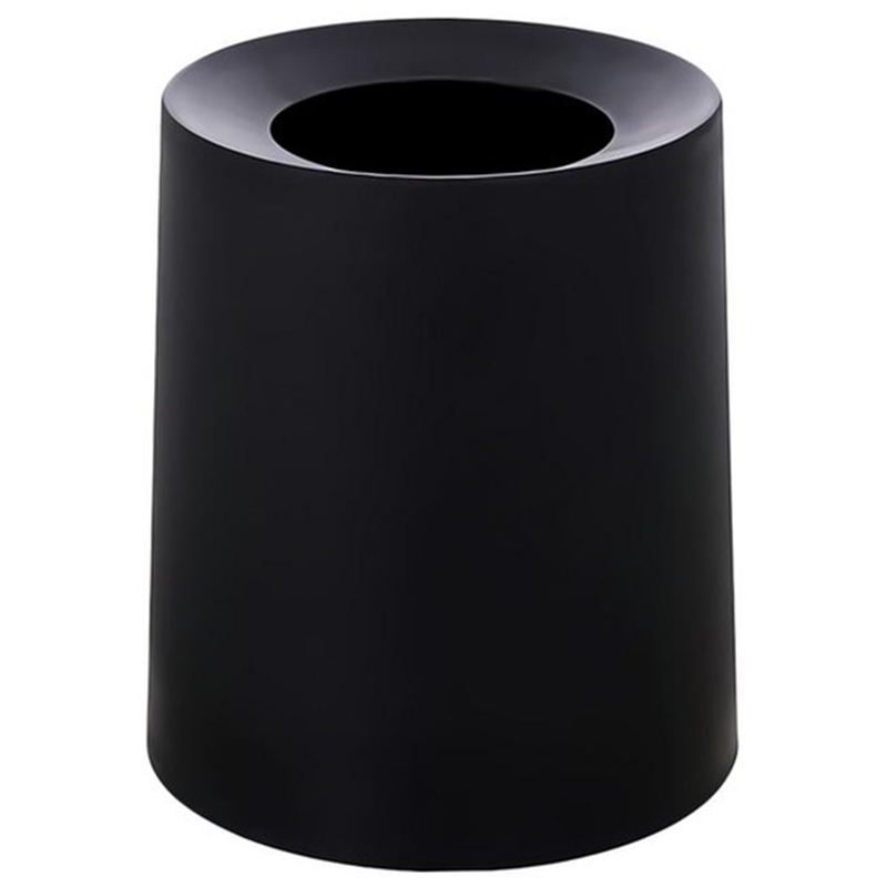Household Double-Layer Round Trash Can Office Living Room Kitchen Bathroom Double-Layer Trash Bin Waste Bins Without Lid Black