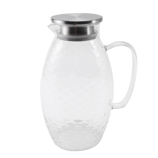 Thick Heat-Resistant Hammer Glass Cool White Open Kettle Large Capacity Household High Temperature Tea Juice Cold Water Bottle Teapot thumbnail