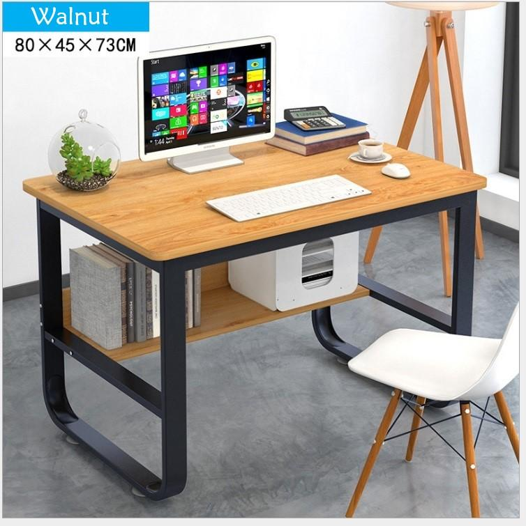 Computer Table 2019 - Free Delivery- Steel Frame + Shelf + Wooden Board