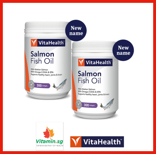 Buy VitaHealth Wild Alaskan Salmon Oil, 300 Sgls, Pack of 2 Singapore