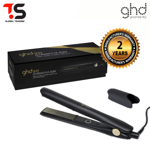 Buy 2 Years Warranty - GHD Gold Professional Black Hair Straightener Styler Singapore