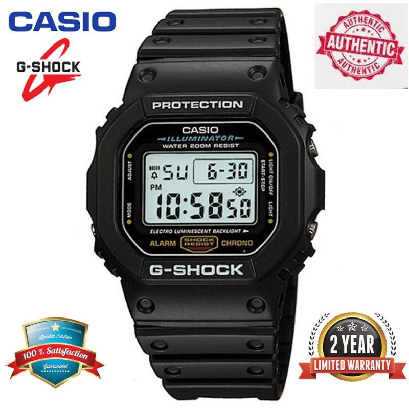 Original G Shock DW_5600E-1V Sport Digital Watch 200M Water Resistant Shockproof and Waterproof World Time LED Light Wrist Sports Watches with 2 Year Warranty DW5600/DW_5600 Malaysia