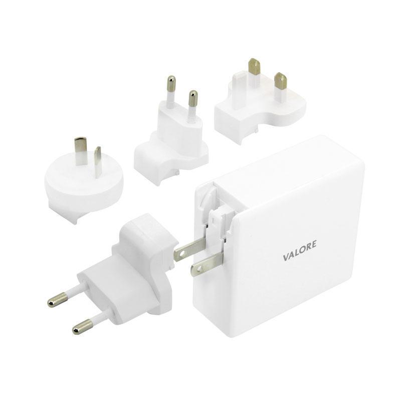 Valore QC3.0 USB + 60W USB-C Travel Adaptor Kit (AC-PD60W)