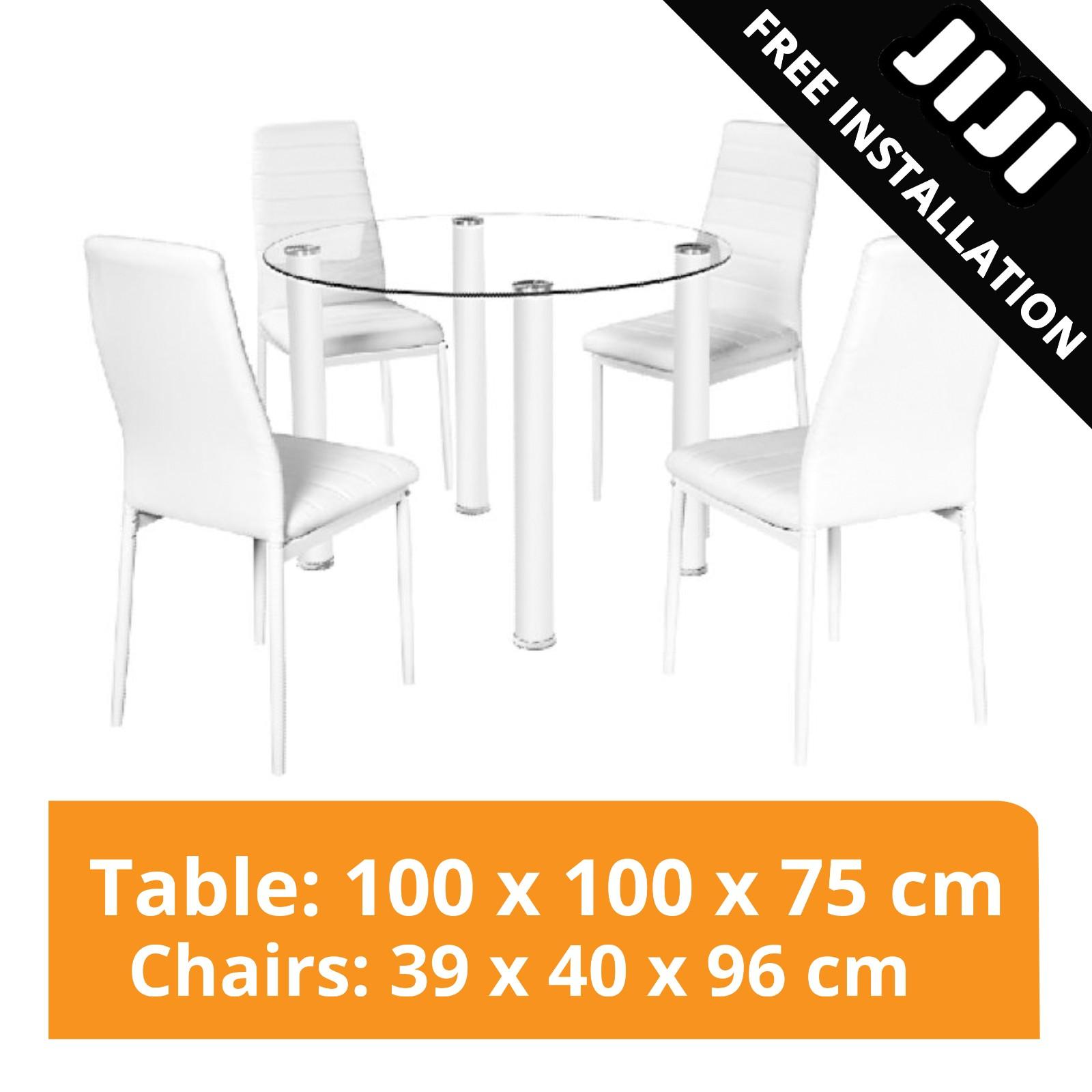 JIJI Vetro Dining Table Set (1+4) (Free Installation) - Tables / Package / Furniture (SG)