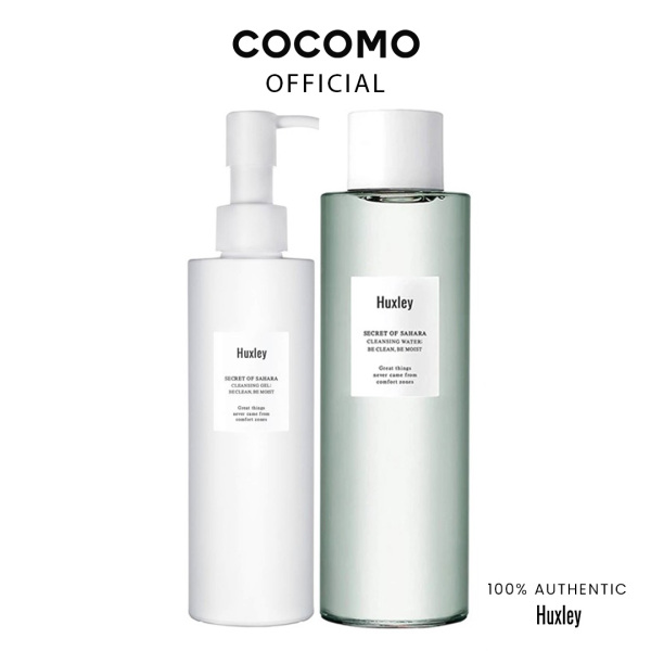 Buy (Huxley) Cleansing Duo (Cleansing Water + Cleansing Gel) - Cocomo Singapore