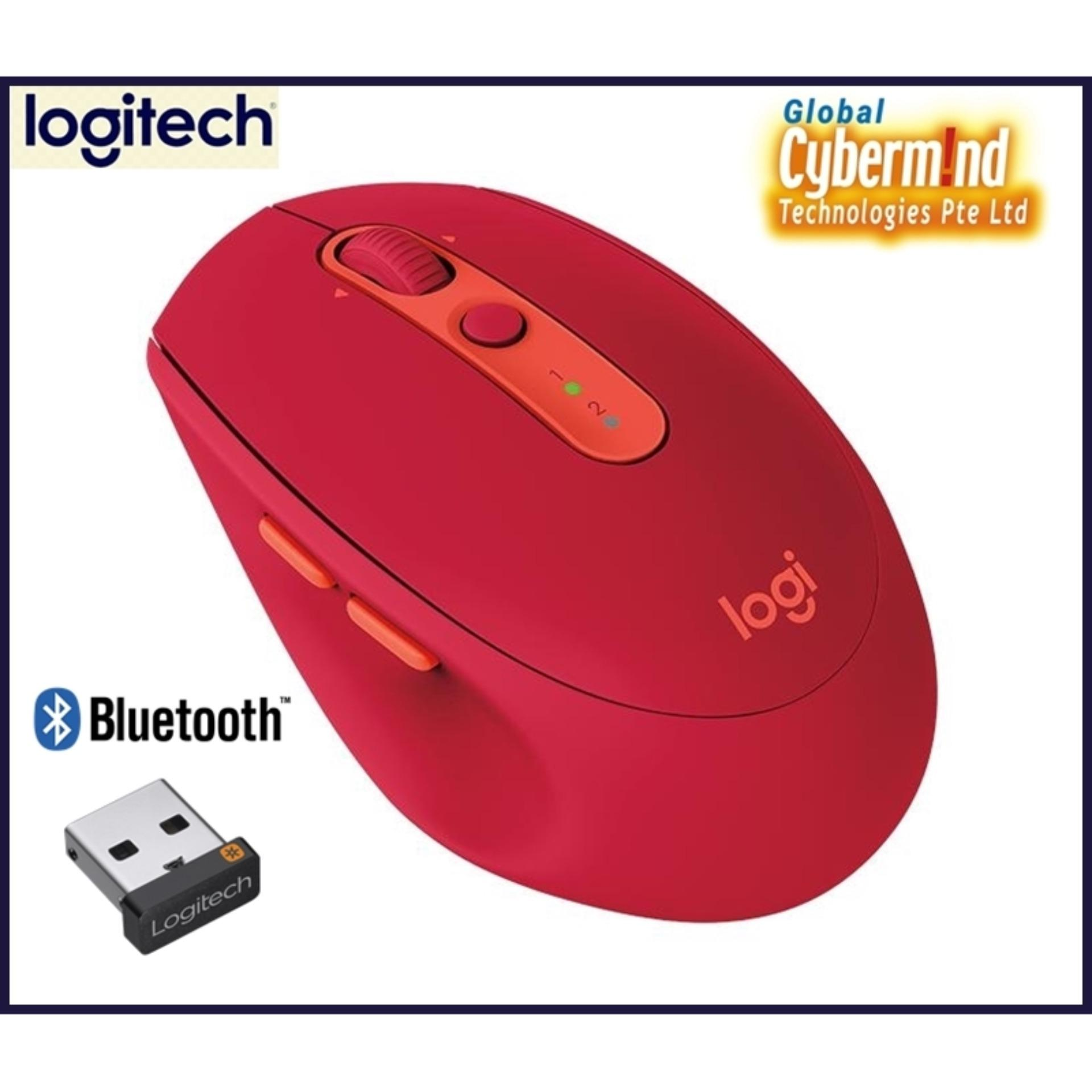 Logitech M590 Multi-Device Silent Wireless Mouse With Logitech Flow (choice of color : Ruby / Mid Grey Tonal / Graphite Tonal) (Local Distributor Stocks)