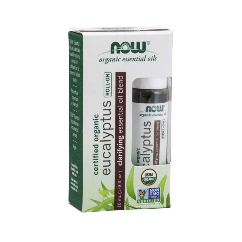 Buy Now Foods, Eucalyptus Essential Oil Blend, Organic Roll-On , 1/3 fl oz (10 ml) Singapore
