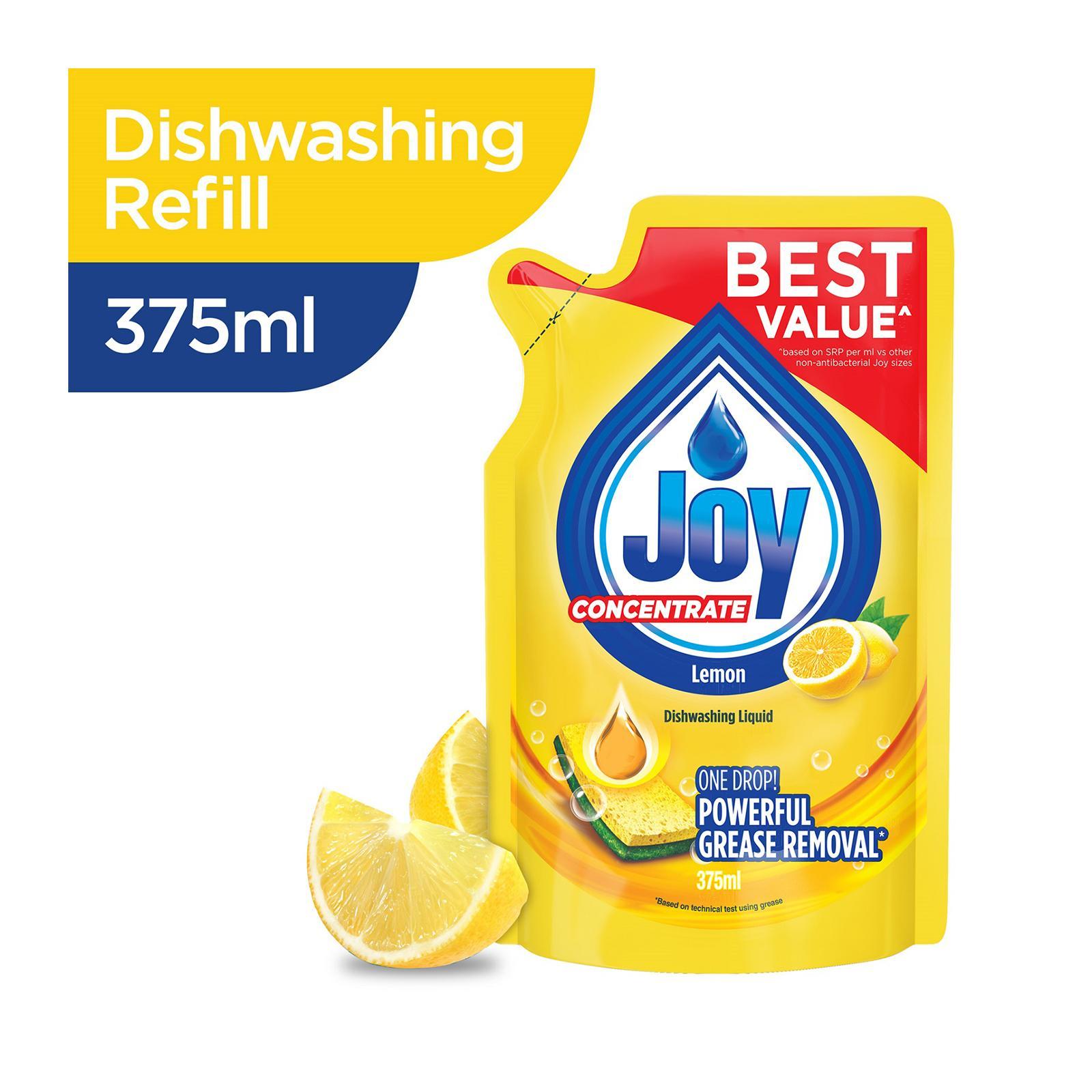 Joy Concentrate Lemon Dishwashing Liquid Refill 375 ML