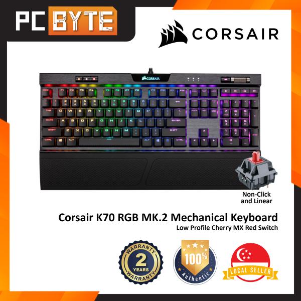 Corsair K70 RGB MK.2 Low Profile Mechanical Gaming Keyboard - (104 Keys / Cherry MX Low Profile Switches) Singapore