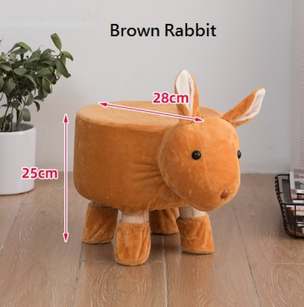 [SG Seller] Cute Animal Stool Chair Kids Chair - Gift for Kids suitable for Bed Room Living Room Studying Room (Stock in SG)