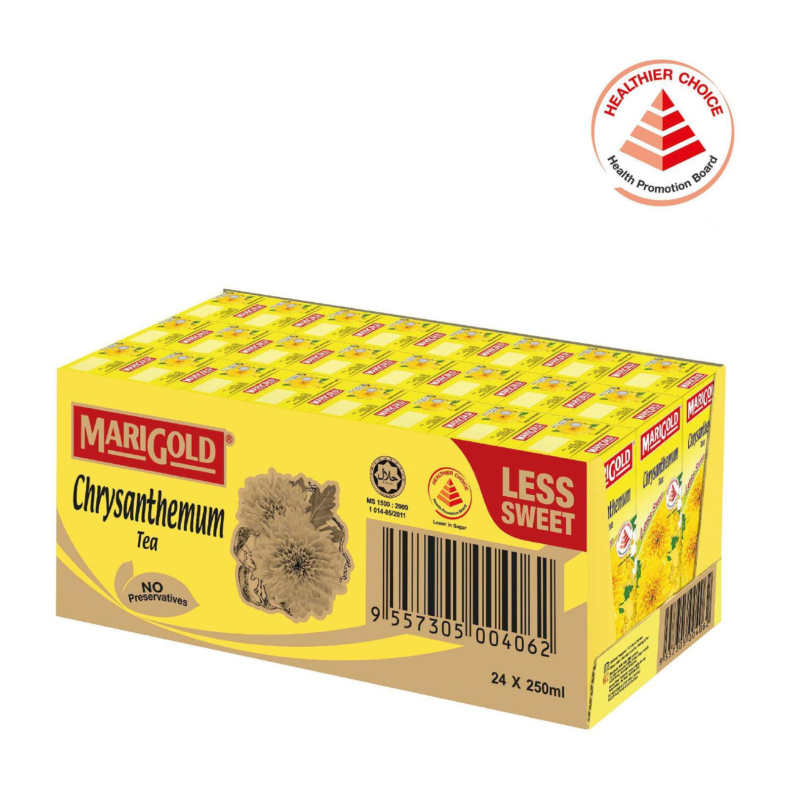 MARIGOLD Less Sweet Chrysanthemum Tea Packet Drink - Case