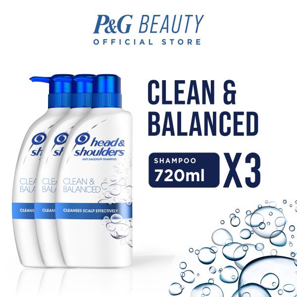 Buy [Bundle of 3] Head & Shoulders Clean & Balanced Anti-Dandruff Shampoo 720ml Singapore