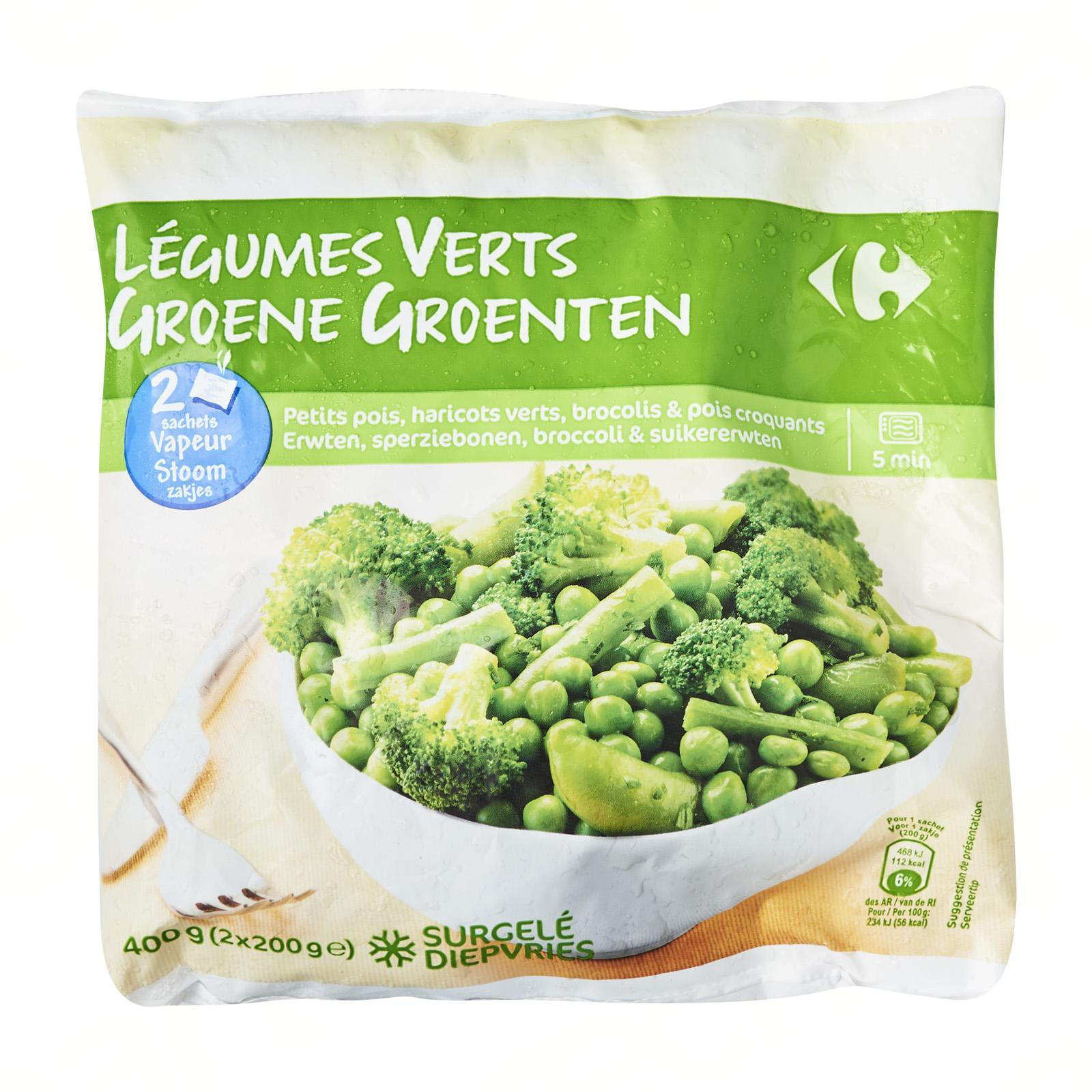 Carrefour Mixed Green Vegetables - Frozen - By Le Petit Depot By Redmart.