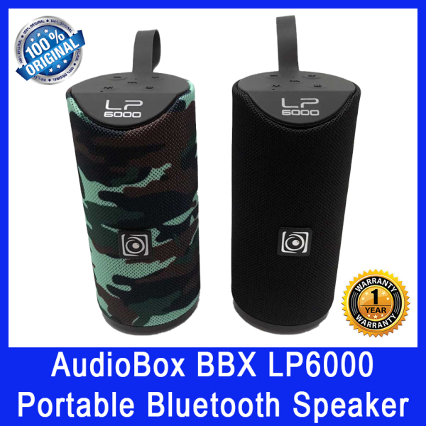 AudioBox BBX LP6000 Portable Bluetooth Speaker. 12 Hours Battery Life. Up to 10m Pairing Distance. Local SG Stock. 1 Year Warranty. Singapore