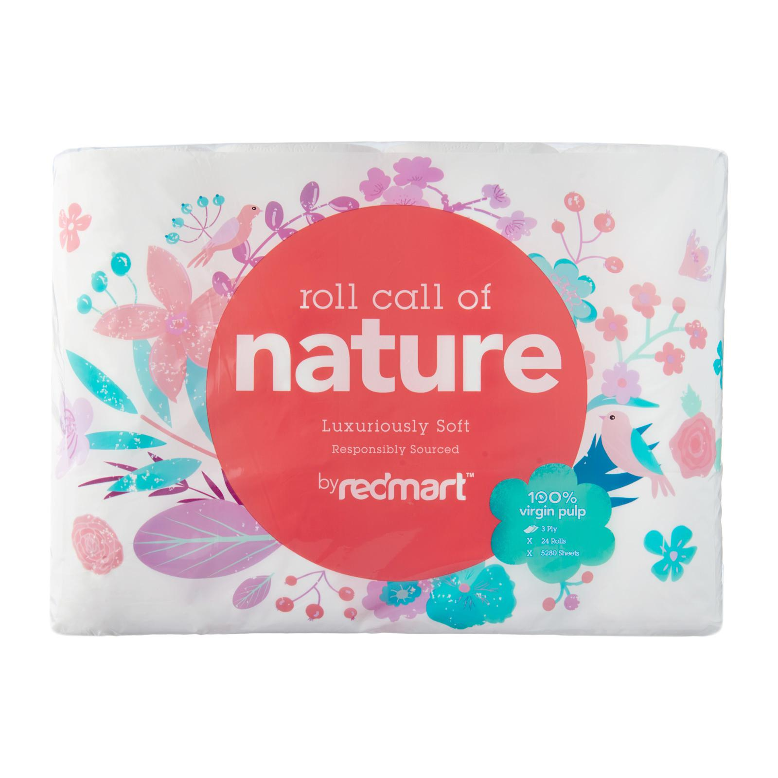 Redmart Luxuriously Soft 3-Ply Toilet Tissue - 24 Rolls By Redmart.