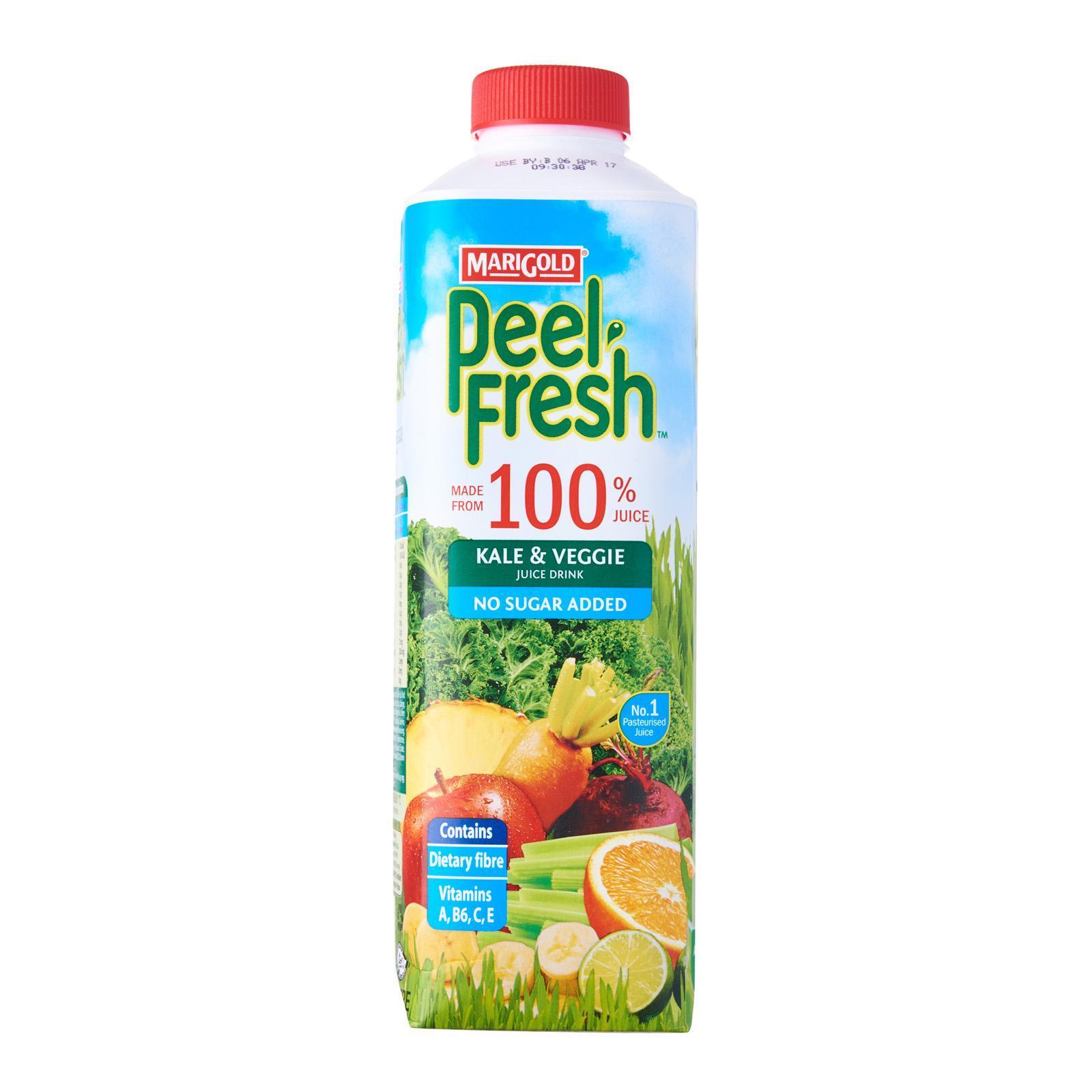 MARIGOLD Peel Fresh No Sugar Added Juice Drink - Kale and Veggie