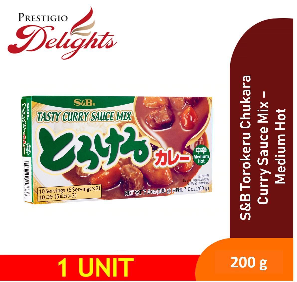 S&b Torokeru Chukara Curry Sauce Mix - Medium Hot 200g By Prestigio Delights.