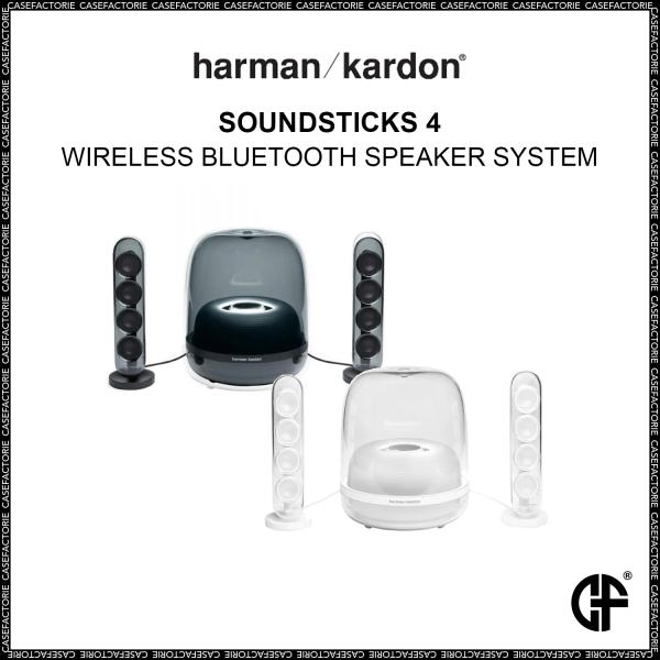 Harman Kardon SoundSticks 4 Wireless Bluetooth Speaker System, Deep Bass Powered Subwoofer Audio Singapore