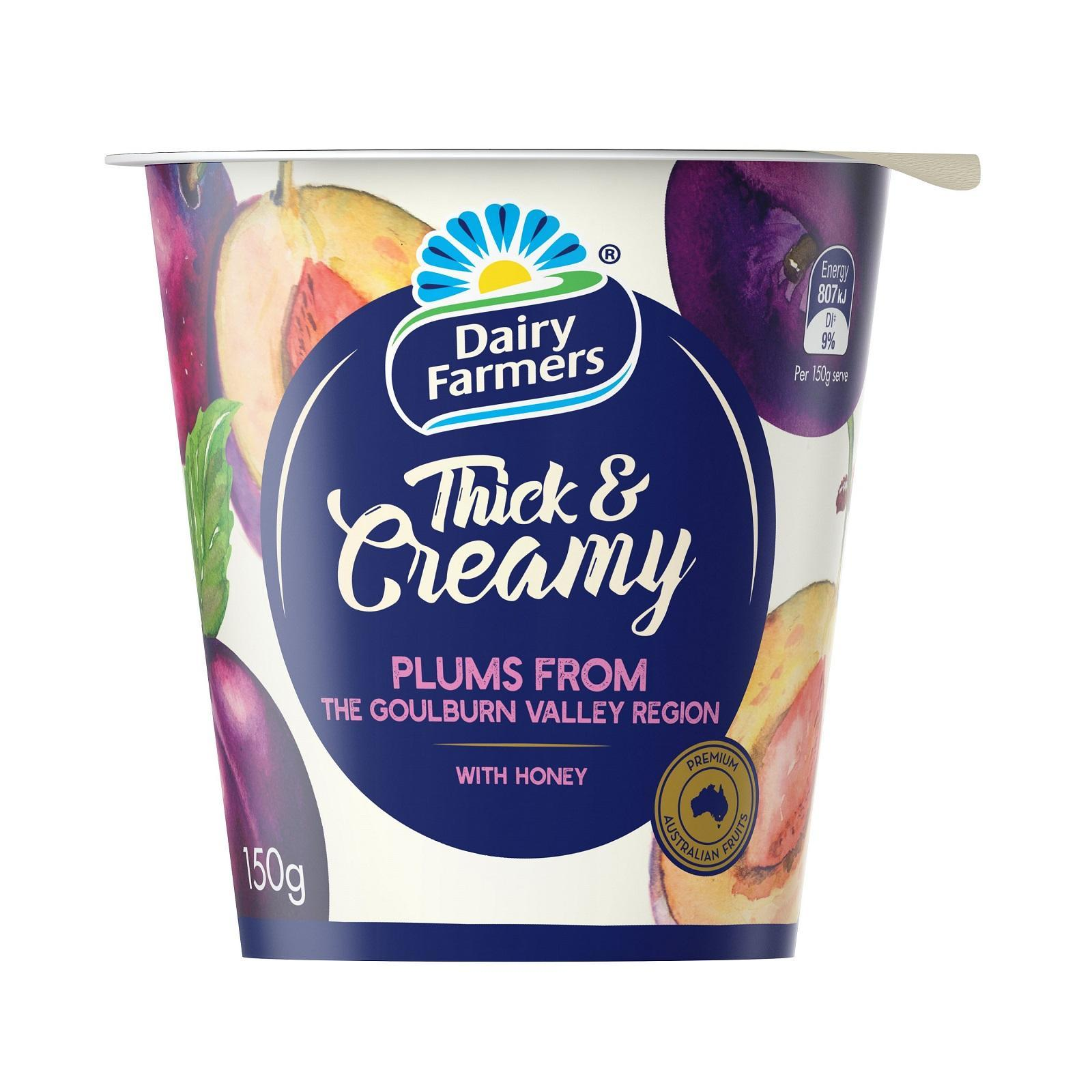 Dairy Farmers Thick And Creamy Yellow Box Honey Yoghurt