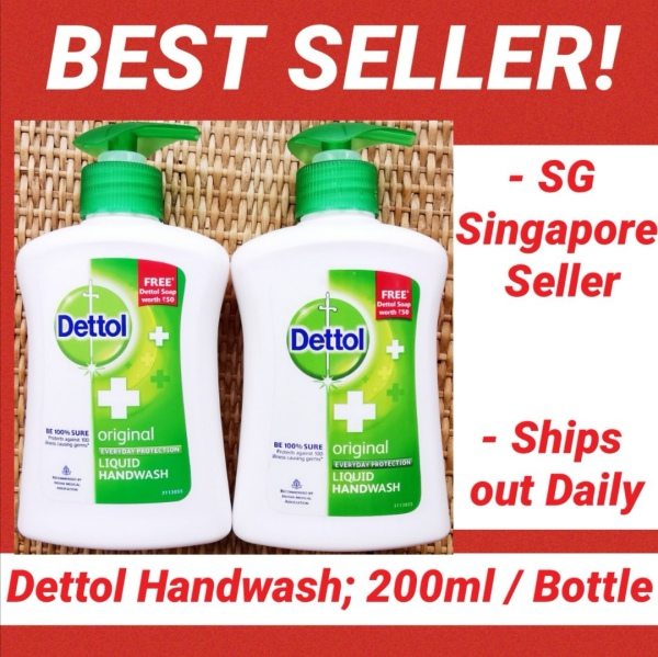 Buy DMacos Dettol Handwash Hand Wash 200ml X 2 / 110ml X 2 / 200ml X 4 / 110ml X 4 / 200ml X 6 / 110ml X 6 / 200ml X 10 / 110ml X 10, hygienic clean Wash Hands Adults Kids Mixed flavour, Eliminates 99.9-percent germs Singapore