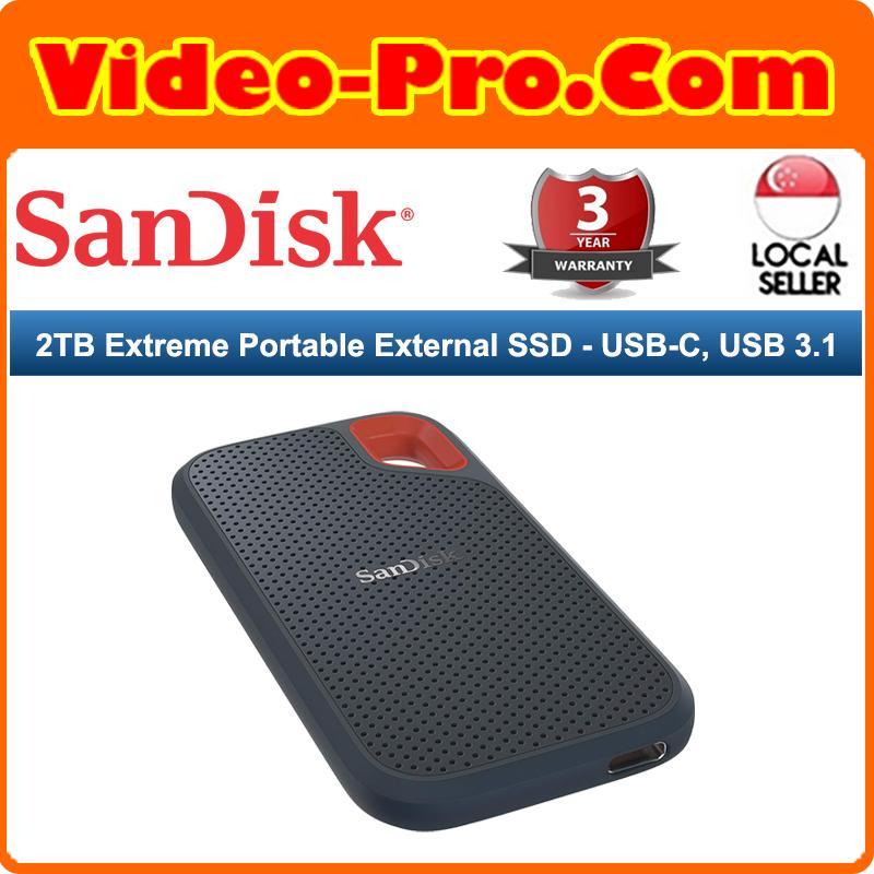 SanDisk Extreme Portable SSD E60 2TB USB 3 1 (Gen 2) SDSSDE60-2T00-G25 3  Years Local Warranty