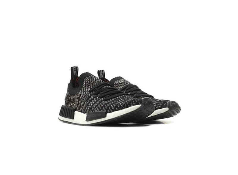 adidas_Originals NMD_R1 STLT Primeknit Mens B37636 Core Black / Grey / Grey