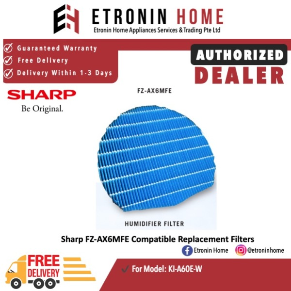 Sharp FZ-AX6MFE Compatible Replacement Filters  for KI-A60E-W Singapore