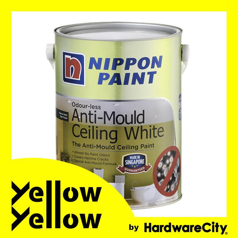 Nippon Paint Odour-less Anti-Mould Ceiling White 1L/5L