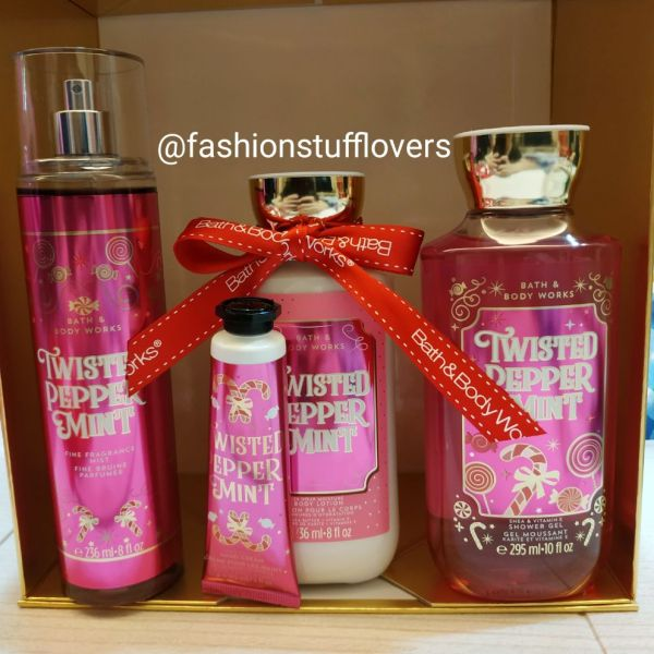Buy BBW Bath & Body Works Twisted Peppermint Gift Bag SET Singapore