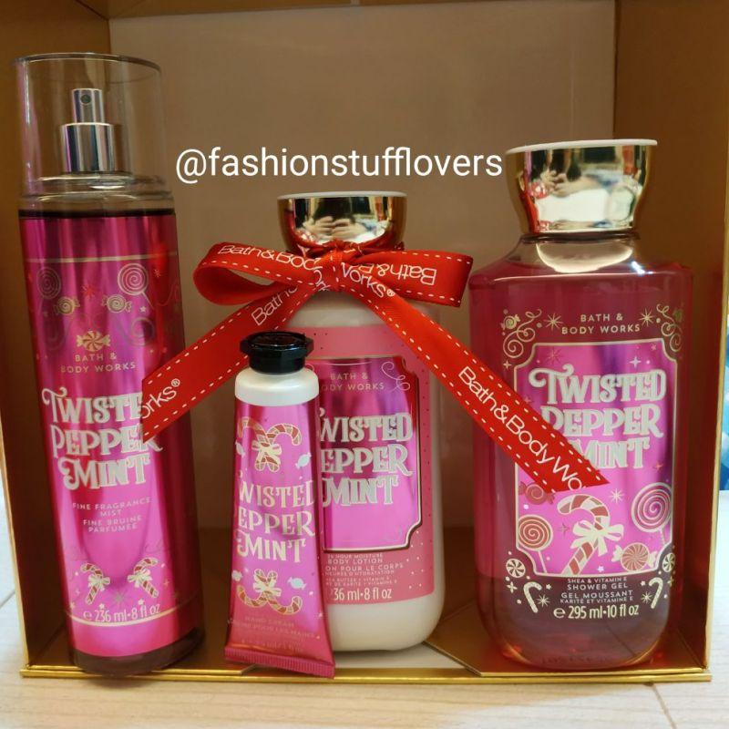 Buy BBW Bath & Body Works Twisted Peppermint Gift Bag SET Singapore
