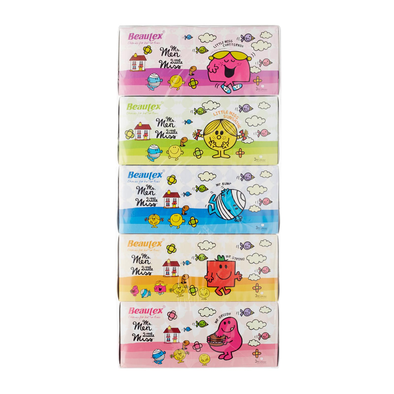 Beautex Mr Men and Little Miss Pure Pulp 3ply Box Tissue
