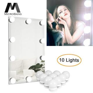 MicroBang Strip Lampu Cermin Mirror Lights Vanity Mirror Light Make Up Mirror LED Light Lamp Kit Makeup Mirror Light Hollywood Style Lighting Fixture Strip LED Bulb Mirror Light for Makeup Vanity Dressing Table thumbnail