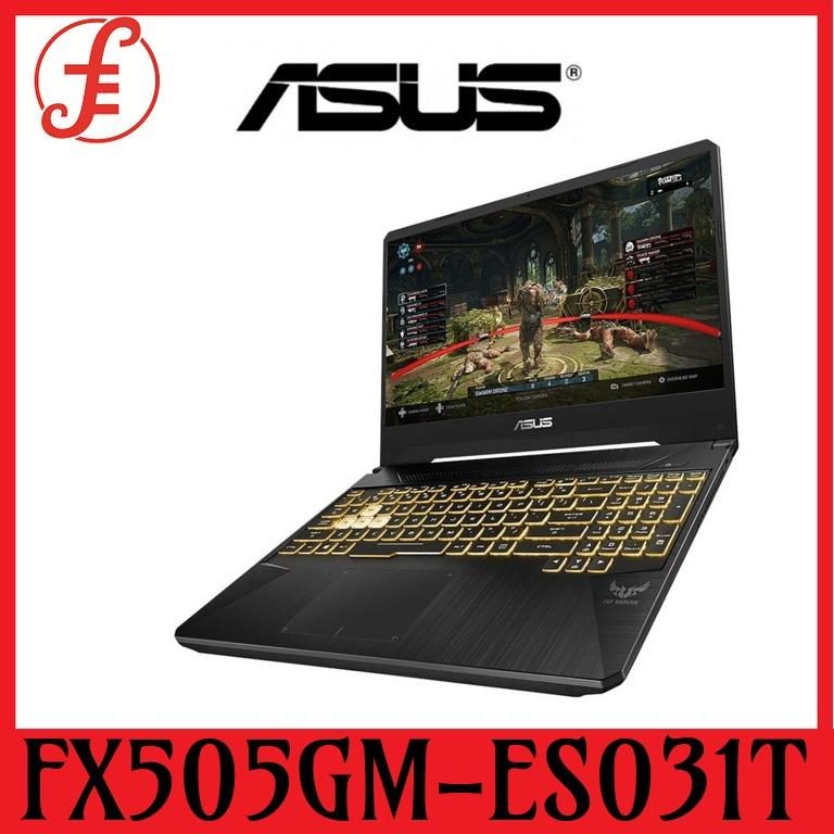 ASUS TUF GAMING LAPTOP FX505GM-ES031T INTEL i7-8750H 2.2 GHz (9M Cache, up to 3.9 GHz) / 8G DDR4 / 1TB 5400RPM + 256G PCIE SSD / NVIDIA GeForce GTX1060 6GB/ 15.6 FHD( 1920x1080), 144Hz / WIN 10 HOME / 2YRS (FX505GM-ES031T)