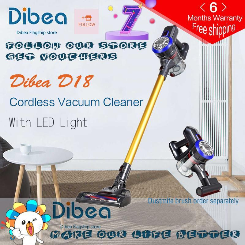 Dibea D18 Protable 2 In 1 Handheld Wireless Vacuum Cleaner Cyclone Filter 8500 Pa Strong Suction Dust Collector Aspirator [With Singapore plug adapter] Singapore