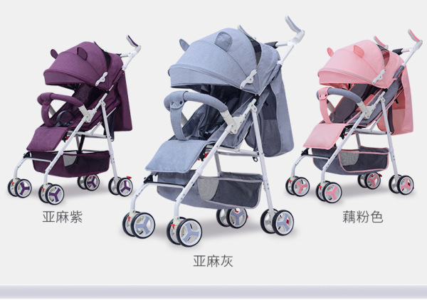 3Princess Newborn Baby Infant Stroller Portable Baby Pram Lightweight Multi Function Singapore