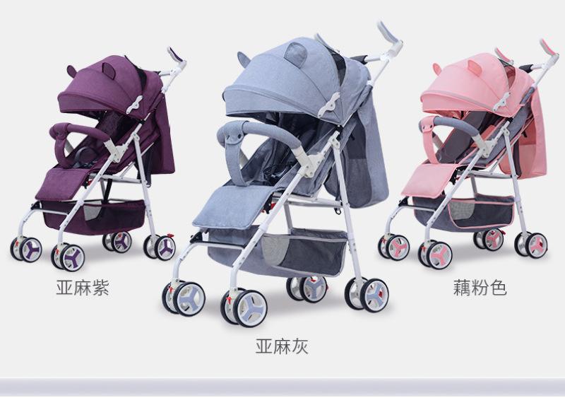 3Princess Newborn Baby Infant Stroller Portable Baby Pram Lightweight Multi Function Singapore