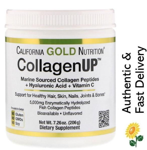 Buy [In-Stock] California Gold Nutrition, Collagen UP, Marine Sourced Collagen Peptides + Hyaluronic Acid + Vitamin C, Unflavored, 206g Singapore